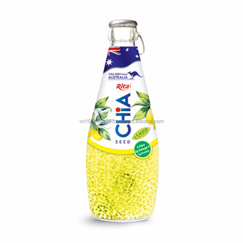 290ml Glass bottle lemon flavor Chia Seed Drink