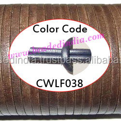 Leather Cords 2.5mm flat, metallic color - power blue. Weight: 550 grams. CWLF25038