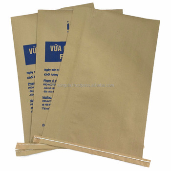 Packing 25kg construction material pp woven kraft paper composite bag