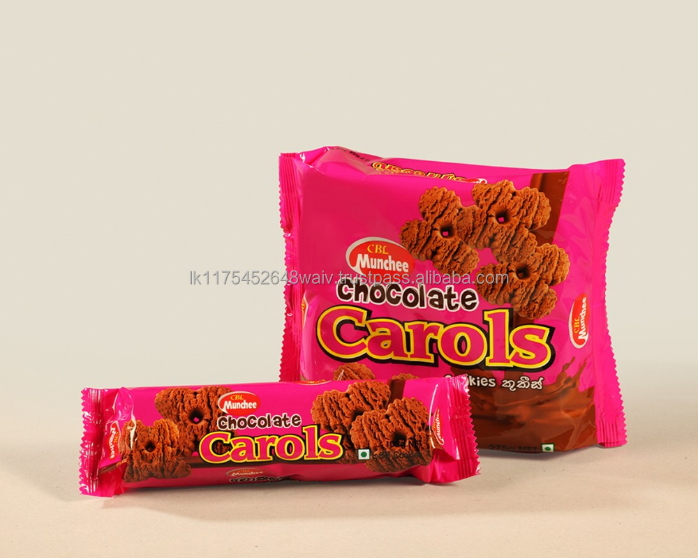 Munchee Chocolate Carols a Delight that's Oven Fresh with a Unique Shape and Texture for a Wholesome Tasty Bite