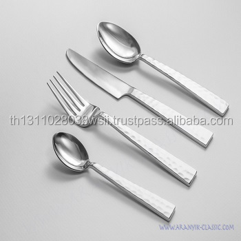 Cutlery set. Spoon Fork Knife and desert spoon