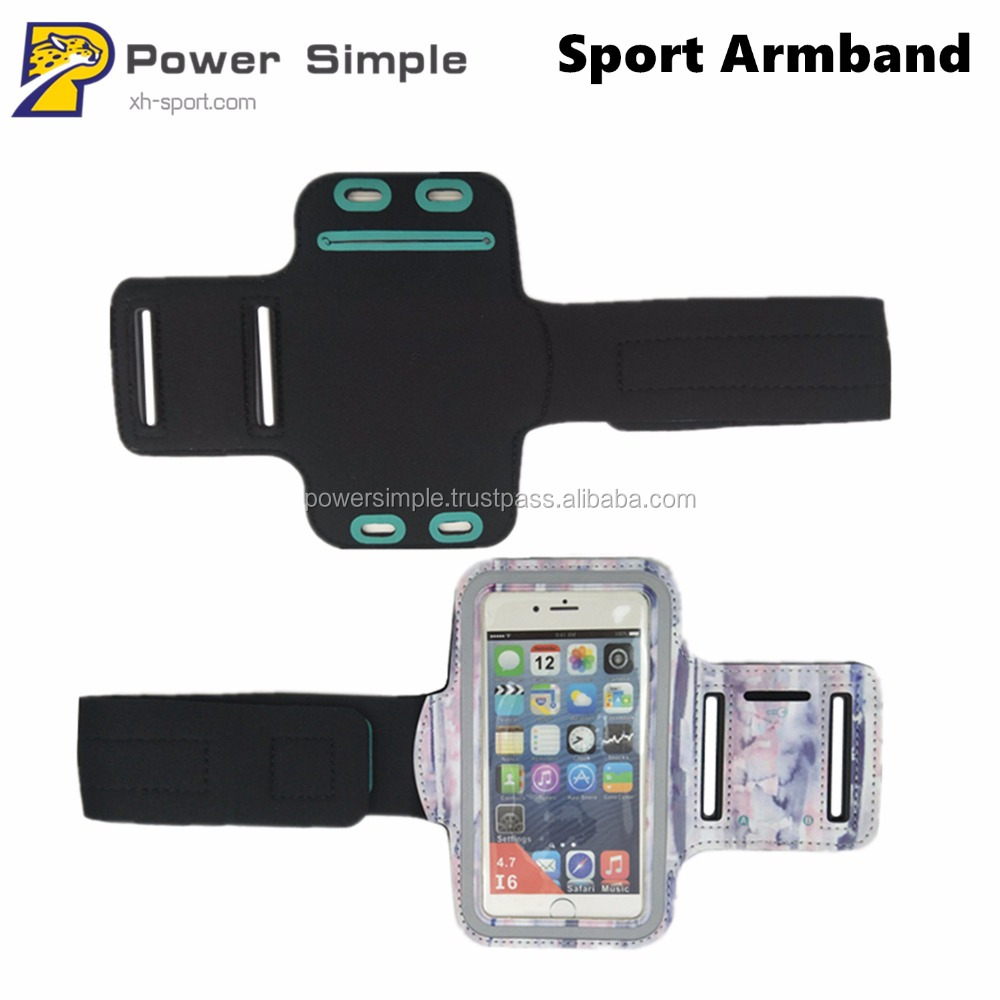 Outdoor Sport Accessories Printed Luminous Armband Running Stretch Mobile Phone Arm Bag Armband