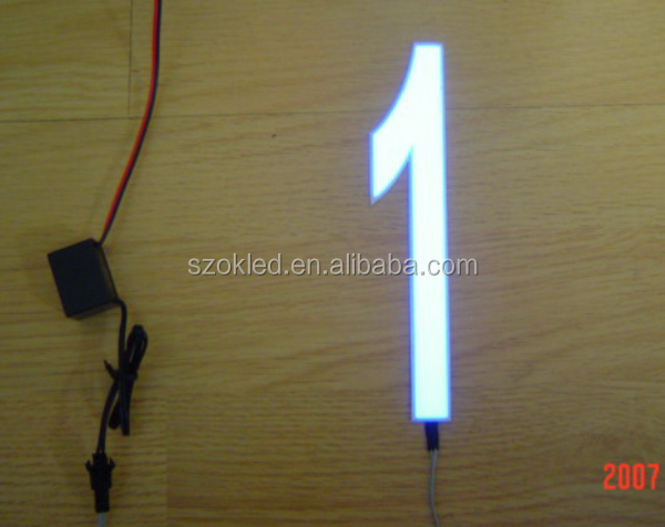 Hot Sale! 155mmX47mm EL Lighted Numbers (set with inverter)