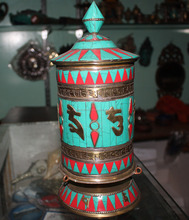 11 Inch Hand Beaten Tibetan Prayer Wheel/High Quality Buddhist Prayer Wheel
