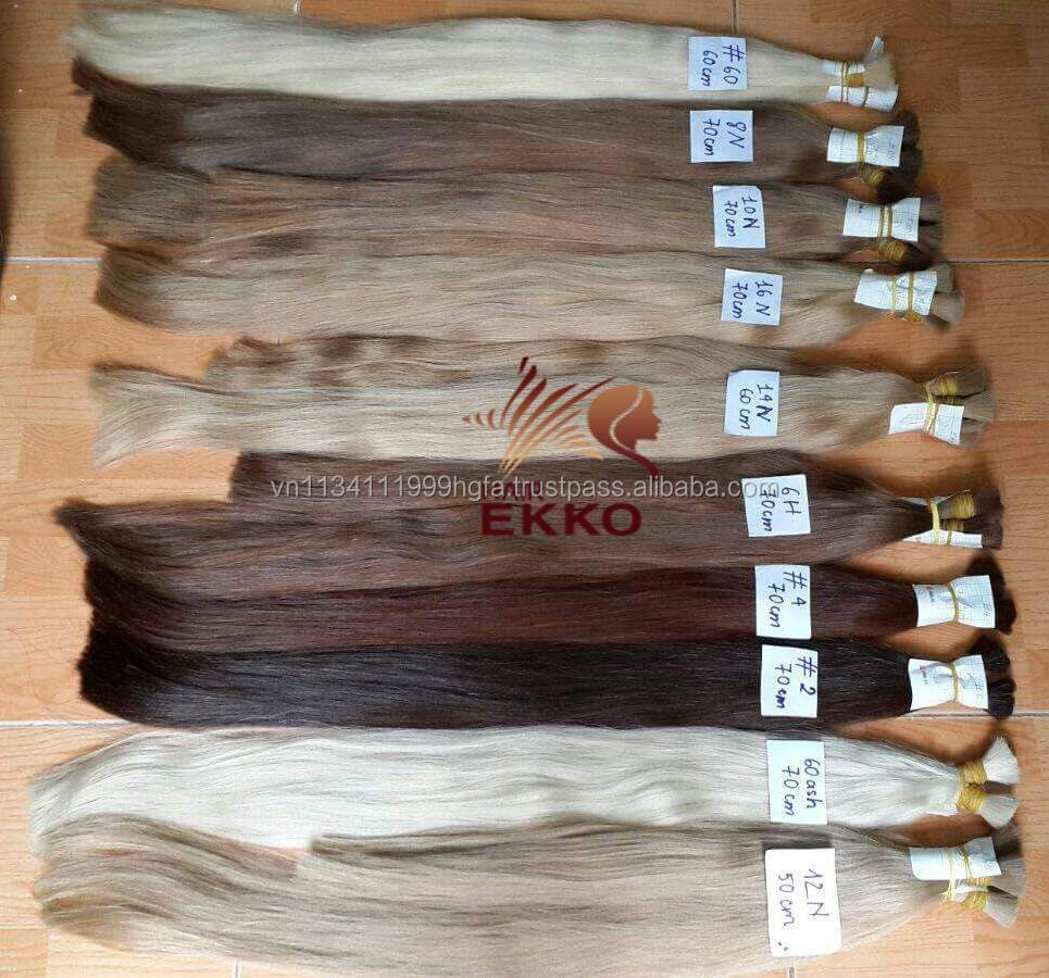 Remy color Russian hair Ekko new arrival nice-looking double drawn bulk