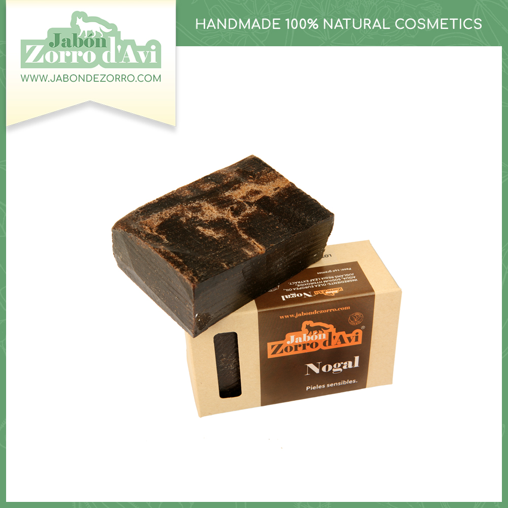 Walnut soap (140g) - Recommended for dermal problems and sensitive skin.