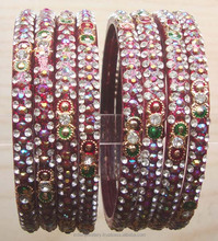 Indian traditional glass bangles manufacturer, costume designed jewellery glass bangles exporter