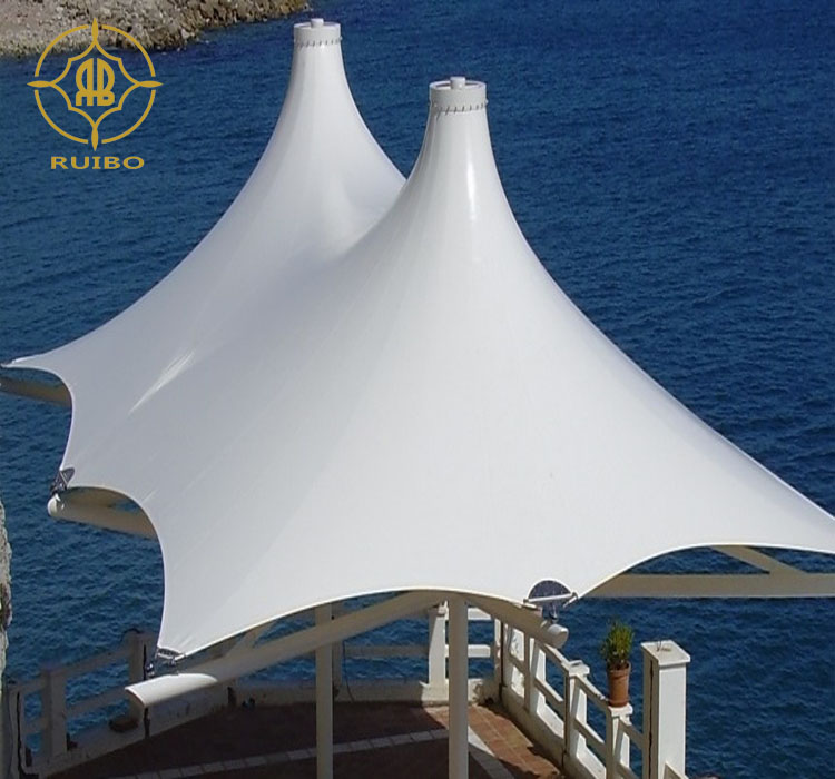 Direct factory price top sell custom tensile fabric membrane structure canopy