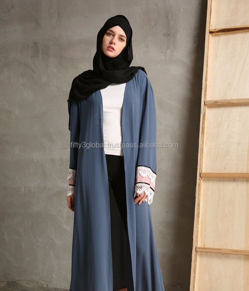 Slate Grey Colour Atest Sports Abaya Fashion Dubai