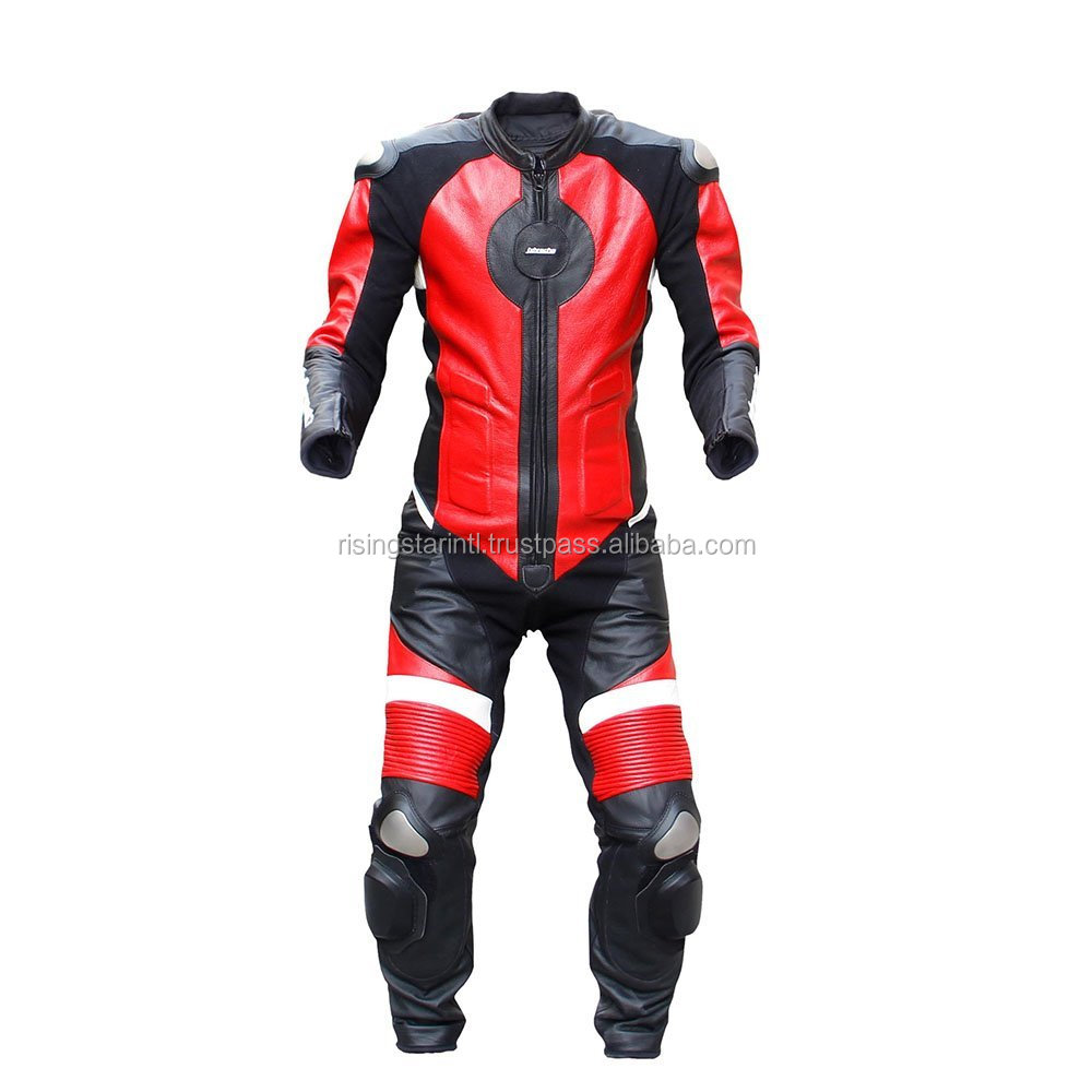 Motorbike Leather Racing One Piece Suit