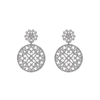 Pave Setting Diamond 925 Silver Handmade Earrings