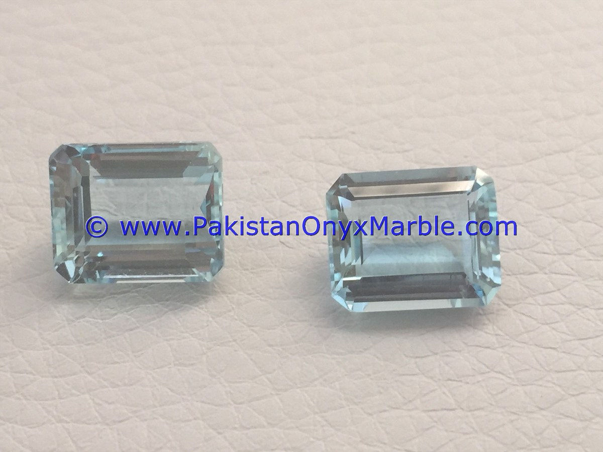 BEST HIGH QUALITY AQUAMARINE CUT STONES SHAPES FROM SHIGAR PAKISTAN