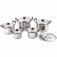 Stainless Steel New Dutch Oven 5 PC Set With Cover