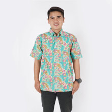 Good Looking batik Shirt Short For Men cotton 100 %
