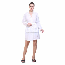 MansiCollections White wrapped sleepwear for women