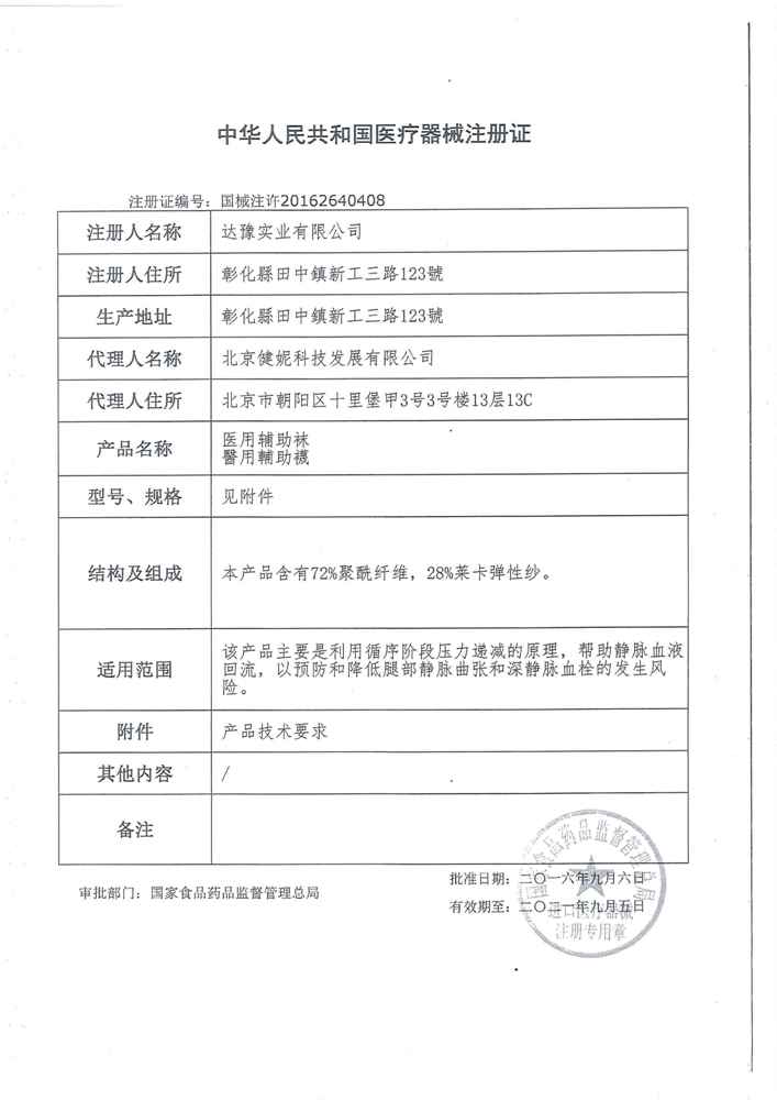 China Medical Appliance Certificate