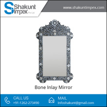 Antique Style Bone Inlay Mirror at Sale