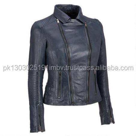 cropped leather jacket womens