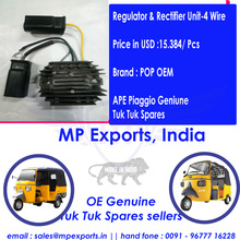 Ape Tuk Tuk Spares Regulator & Rectifier Unit-4 Wire