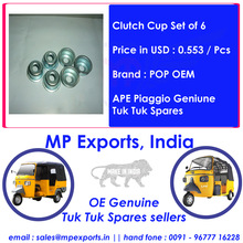Clutch Cup Set of 6 For Tuk Tuk Spares Ape Piaggio