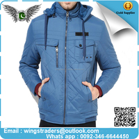 New style men cotton-padded beige men's windproof cotton bomber jacket By Wings traders