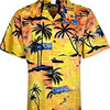 Printed Yellow Color Beach Wear Mens