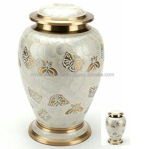 Golden Brass Butterfly Adult Urn large
