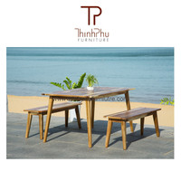 NEW DESIGN - Bench set with Table - Vietnam Furniture
