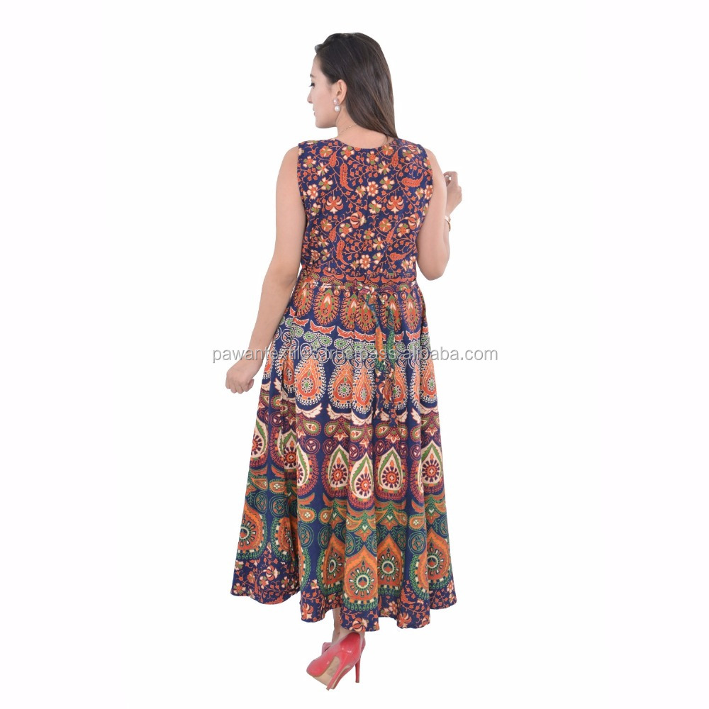 Women's Multi-Colour Satin Silk Digital Printed Stylish Kaftan / Smart WearKaftan / Bollywood Style Kaftan mandala dress