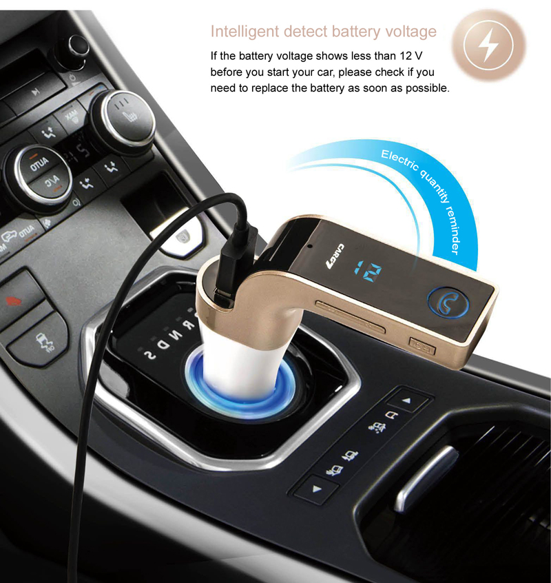GXYKIT G7 Bluetooth Car Kit MP3 Player FM Transmitter Handsfree Best Car USB Charger