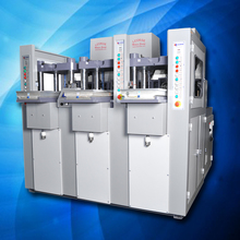 LM1/3E - 3 STATIONS 1 COLOR EXTRUSION SYSTEM SHOE SOLES INJECTION MOULDING MACHINE