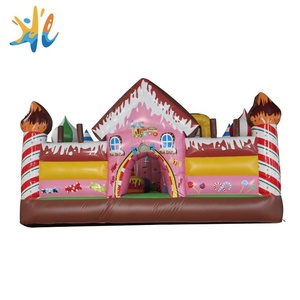 Guangzhou Huale small candy trampoline commercial inflatable bouncing castles