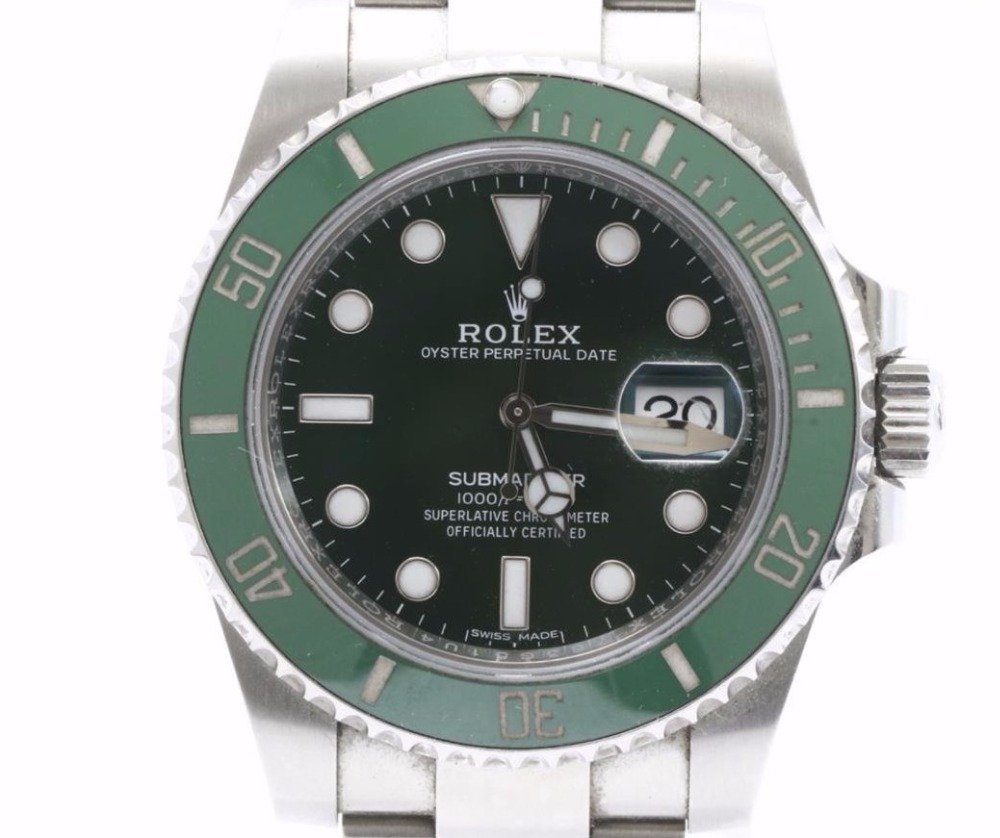 Used high Quality Brand Used ROLEX Submariner Green 116610 LV Watches for bulk sale. Many brands available.