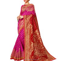 Celebrate This Festive Season Wearing This Attractive Saree In Dark Pink And Red Color Saree.