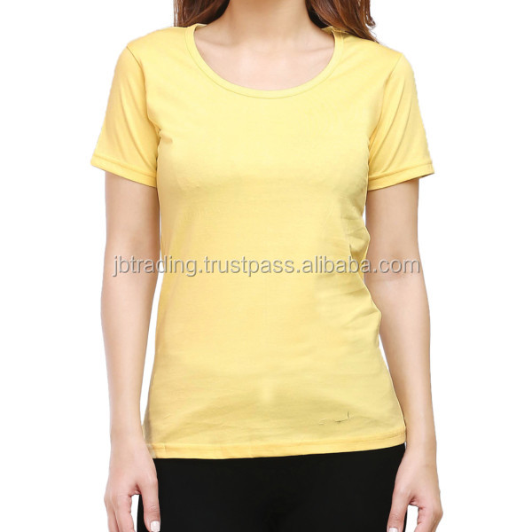 womens round neck cotton tshirt