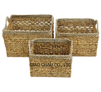 Giaochau water hyacinth storage basket in rectangle shape