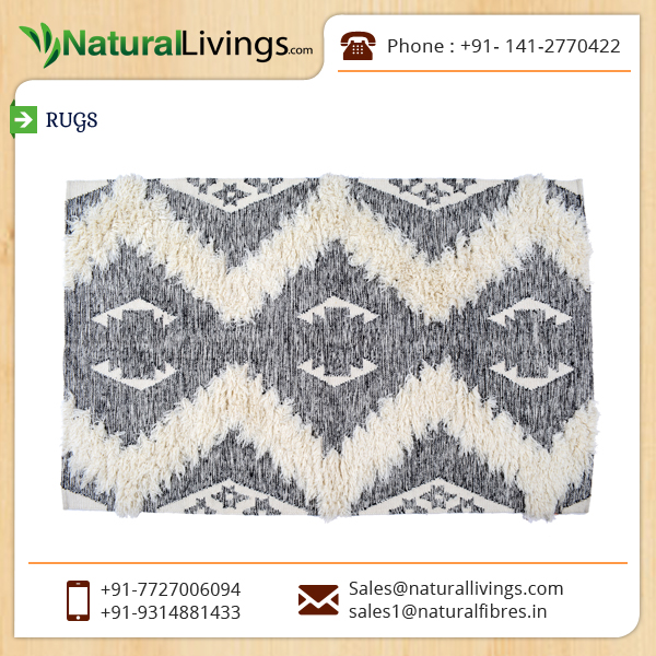 Beautiful, Eye Catching, Cost Effective Cotton Shaggy Rug for Home Decor