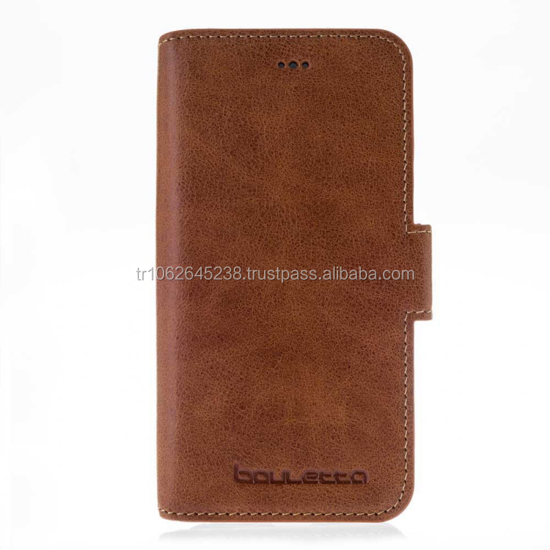 New Premium Trending Genuine Leather Wallet Type Phone Case for iPhone 7
