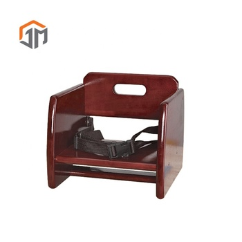 Durable Pine Wood Seat Belt Baby Feeding Booster Chair