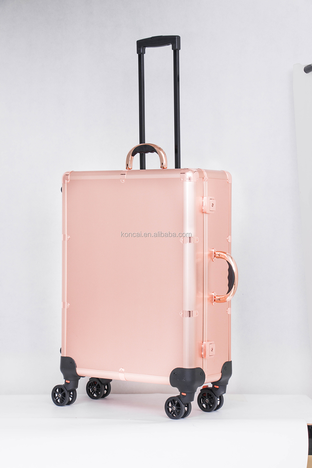 CE Certificated Professional Makeup Station with Lighted Mirror Aluminum Trolley Beauty Case KC-210