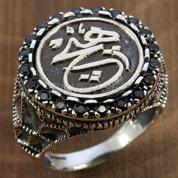 925 silver men ring man arabic calligraphy turkish handmade made in Turkey