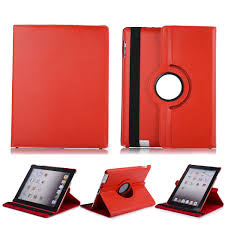 Leather Case for iPad 2,3,4 Tablet Rotating Stand 360 Sleep ##824#