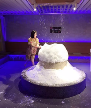 Korea real snow snow making machine, ice machine for snow spa and sauna ice room, cafe