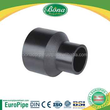 Molded HDPE fittings, reducer, elbow, tee, cap, stub flange
