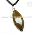 Shiny rutile gemstone pendant 925 sterling silver jewelry pendants wholesaler jaipur