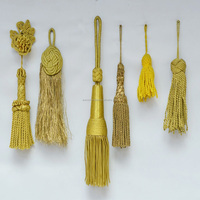 Bullion Wire Tassel With Gold Twisted Cord