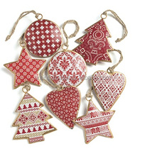 Christmas Hanging Tree Ornament  Christmas Decoration  Hanging Heart Hanging Star
