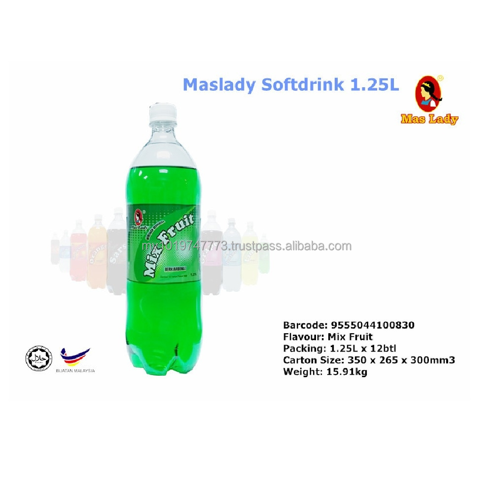 Soft Drink with Green Mix Fruit Flavour