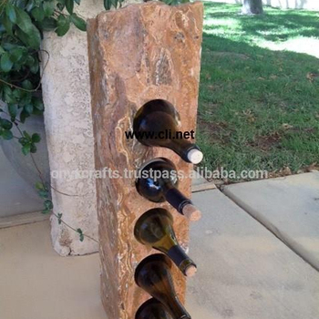 Onyx Marble Wine Bottle Rack in cheap price