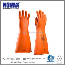 NOVAX Insulating Gloves Electrical Safety Gloves Class 3 Working Safety Gloves Manufacturer in Malaysia